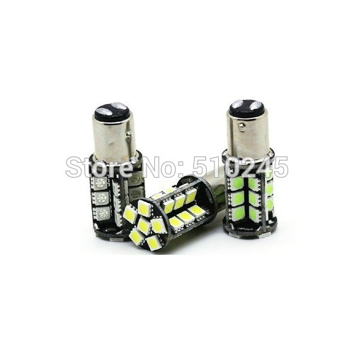 30X Wholesale No Error Canbus 1157 BAY15D 30 SMD 5050 White Red LED Brake Light Bulbs free shipping