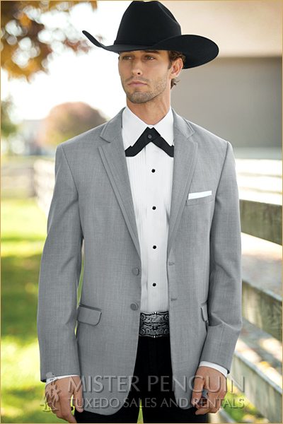 New arrival Costomize Made Two Button notch lapel light grey Tuxedos ...