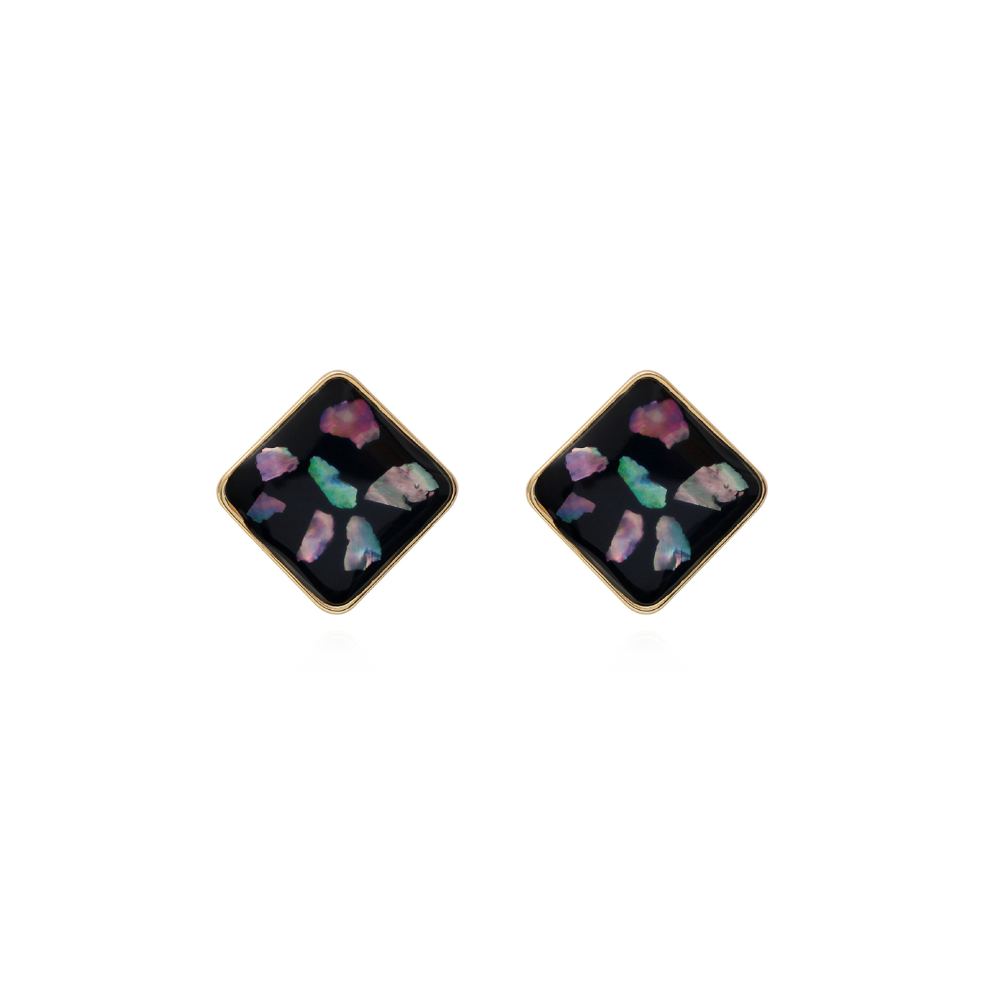 GWACC Fashion Original Creative Rectangular Stud Earrings For Women Girls Korea Vintage Drip Earrings Fashion Jewelry 3 Colors in Stud Earrings from Jewelry Accessories