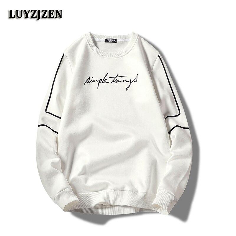 New Brand Sweatshirt Men Cotton Mens Hoodies Long Sleeve Autumn Winter Outwear Male Casual Sweatshirts Fashion High Quality K100