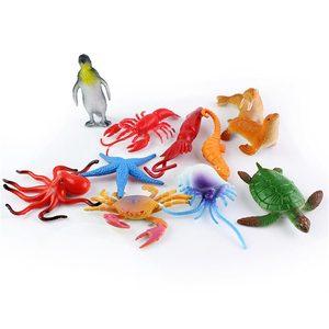 Image 3 - 5pcs Sea Life Model Simulation Toys Pool Fish Toy Fish Miniature Early Education Marine Animals Figure Gift For Children