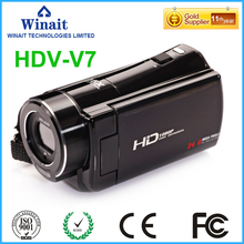 Freeshipping 24mp 16X digital zoom wireless video camera HDV-V7 3.0″LCD display professional video camcorder