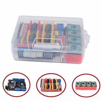 DIY KIT CNC Shield Expansion Board for 3D Printer + 4 x A4988 Stepper Motor Driver with Heat Sink + micro usb UNO R3 DIY