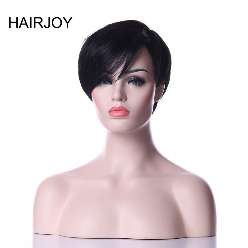 HAIRJOY Synthetic Natural Black High Temperature Fiber Woman Hair Wig 6 Colors Available Free Shipping