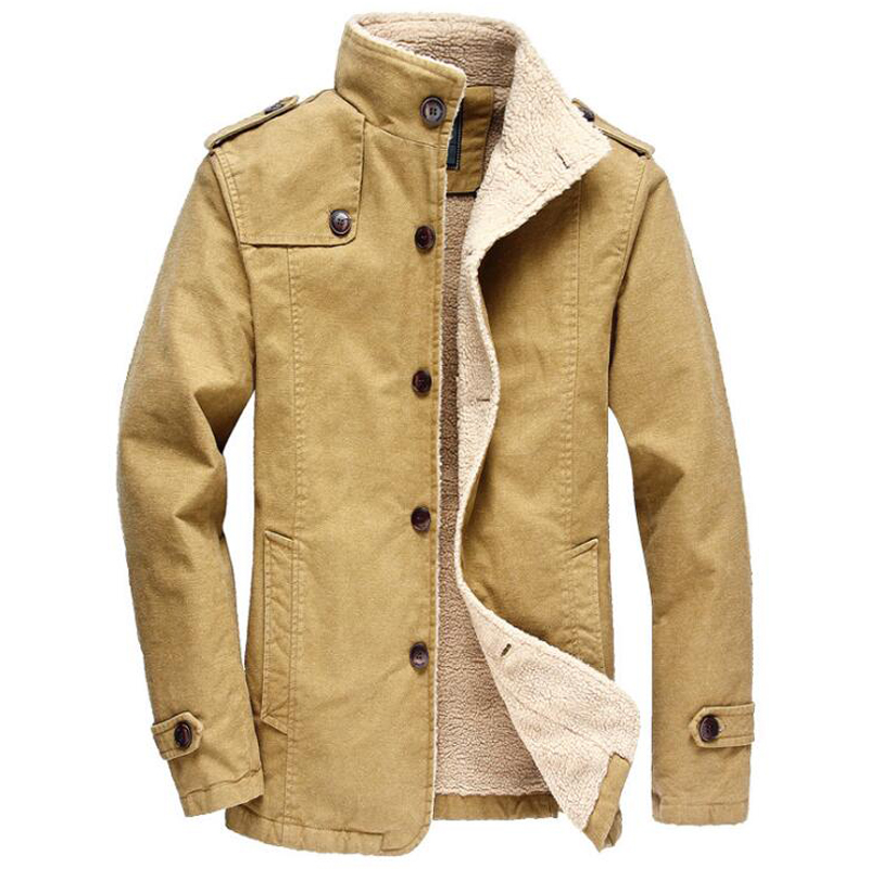 Military Style Army Bape Jacket For Men Chinese Luxury Brand Winter Army Green Overcoats Men's Pea Coat For Winter 6XL Plus C194