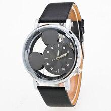 Chegada nova Feminino Relogio Esqueleto Mostrador do Relógio Filhos Assistir Relógio Bonito Dos Desenhos Animados Meninas Relógio de Quartzo relógios 0055