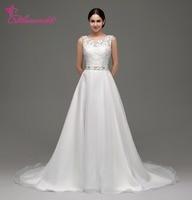 Alexzendra Stock Dresses V Back Chiffon Beach Wedding Dress Scoop Beaded Waistband Elegant Bridal Gowns Ready