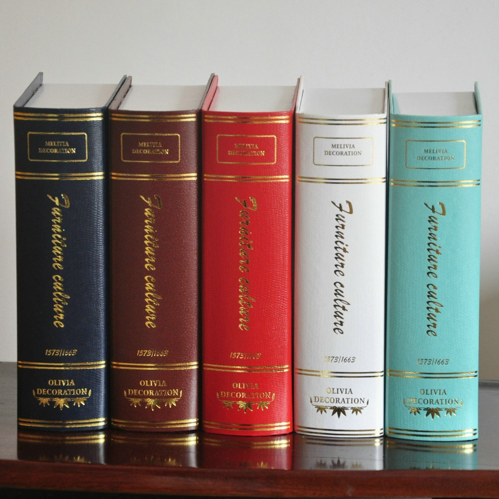 Diy Home Decor Antique Fake Book Shoot Props Simulation Books For