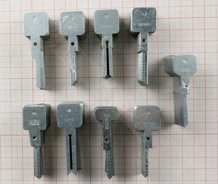 20pcs Original Engraved Line Blank Car Key Key Scale Shearing Teeth For 2 In 1 LiShi HU101 HU66 HON66 HU100 HU92 Locksmith Tools