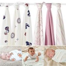 Hot Sell Aden Anais Muslin Baby Blanket Bamboo Fiber Newborn Bath Travel Towel swaddle Warp Multifunctional Quilt 120CM*120CM