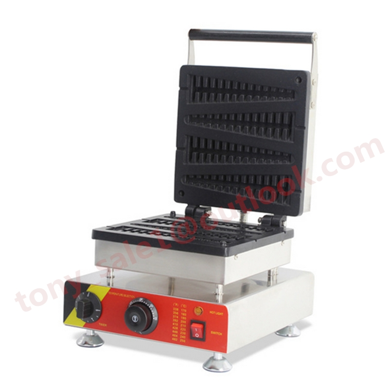 220V/110V Electric Stainless Steel Commercial Use Fish Lolly Waffle Maker Machine Waffle On a Stick Kitchen Appliance 10oz stainless steel 110v 220v electric commercial popcorn machine with temperature control