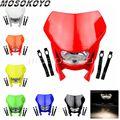 Фара для Yamaha Honda XR CRF 125 CRM FMX 250 450 200 650  красный обтекатель Фар H4 35 Вт для внедорожников