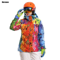 Snow Coat Thicken Waterproof Windproof Warm Breathable Winter Sports Outdoor Camping Hiking Snowboard Skiing Jacket Women