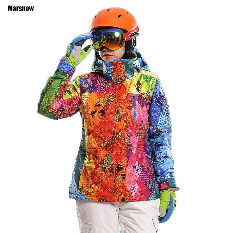 Ski Veste Femme épaississent Manteau Imperméable Coupe-Vent respirant Hiver Sports de Plein Air Vtt Randonnée Snowboard Ski veste femmes