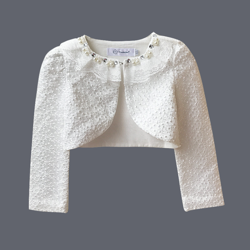 Youbeika Baby Lace Cardigan Girls Bolero Cardigan Long Sleeve Lace Bolero Jacket For Wedding Dress Bolero Party White Clothing цены онлайн