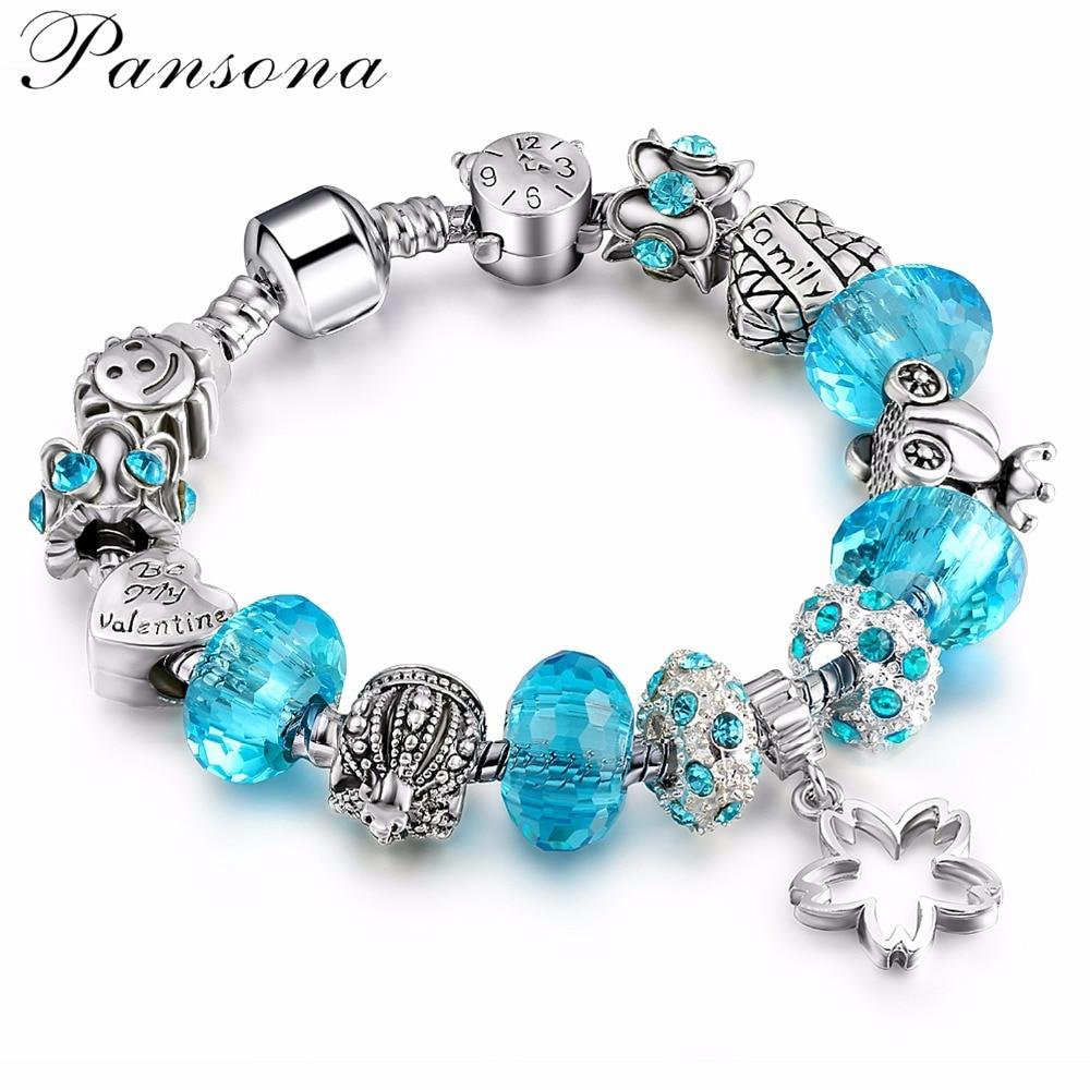 Diy Charm Bracelets: Silver Crystal Bead Charm Bracelet Royal Carriage For
