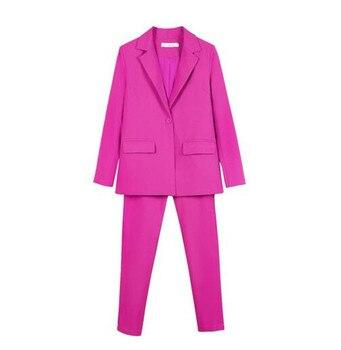 f00b01a85a3 Для женщин брючные костюмы женская рубашка комплект из 2 частей (куртка +  брюки) Женский деловой костюм женские офисные форма дамы брючные ко.