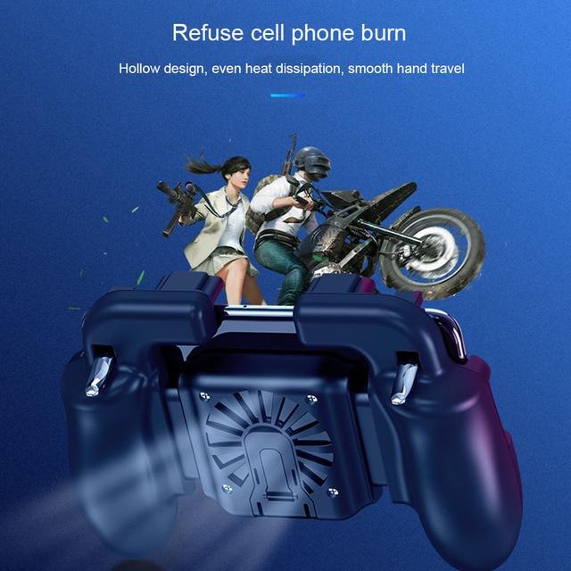 Мобильных игр геймпад кулер вентилятор охлаждения огонь PUBG мобильной игры геймпад джойстик металла L1 R1 триггер