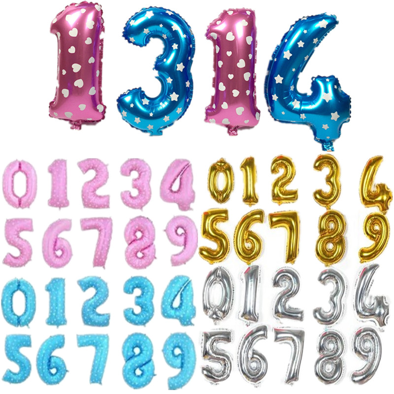 Hot-selling 16-inch aluminum gold silver birthday balloons decoration party figu