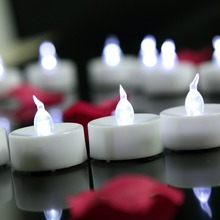 60pcs/lot White LED Candle Romantic Flameless Candles Light For Wedding Party Holiday Decoration free shipping