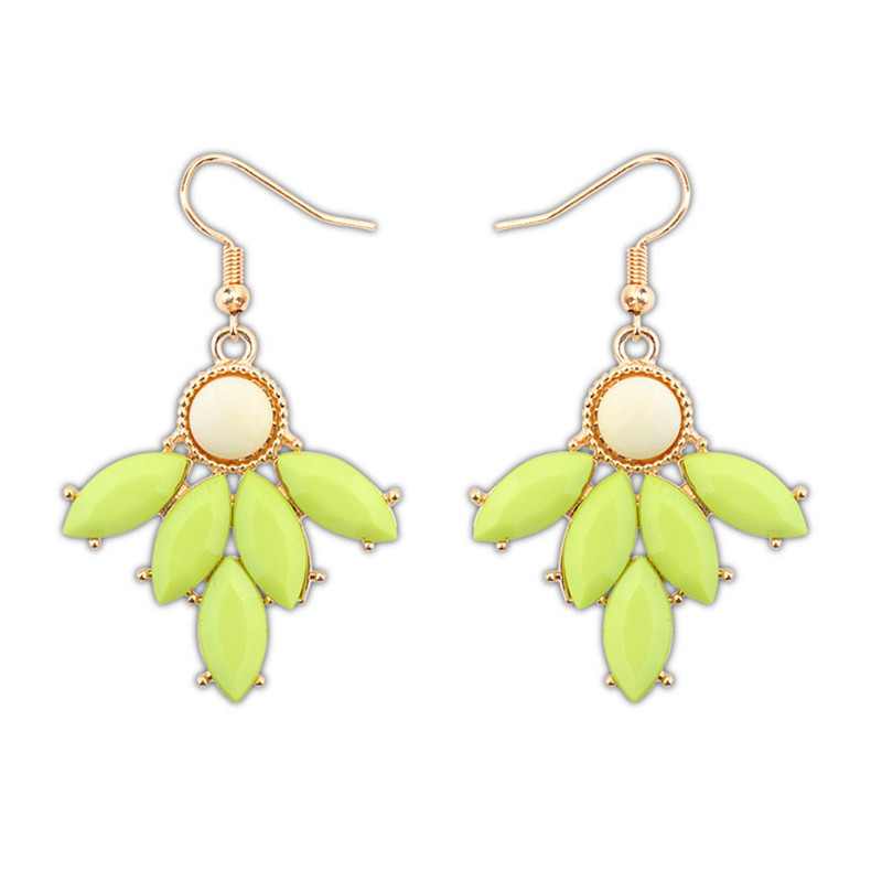 LPHZQH Women fashion jewelery Small fresh resin leaves earrings candy color drop earings Christmas gift