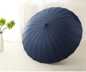Image 4 - 뜨거운 판매 브랜드 비 우산 남자 품질 24K 강한 Windproof Glassfiber 프레임 나무 긴 손잡이 우산 여성 Parapluie