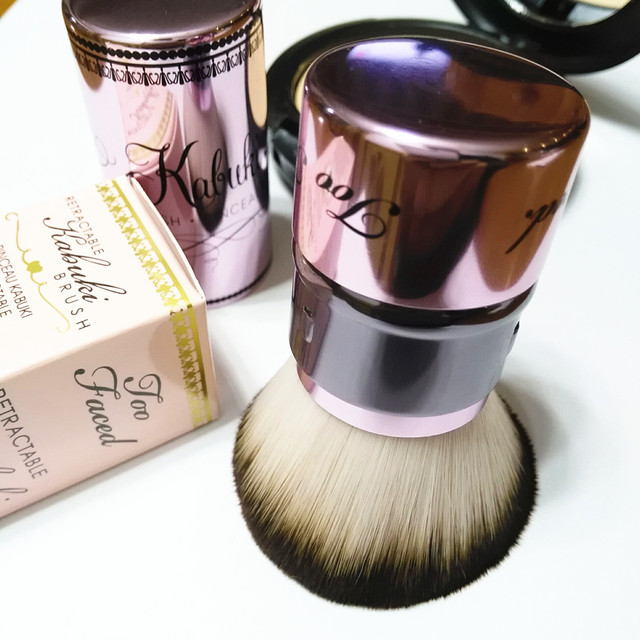 2014 New Portable Retractable Kabuki Powder Brush 100% Brand New Too Bronzer Make Up Original Single Face Loose Powder Brush