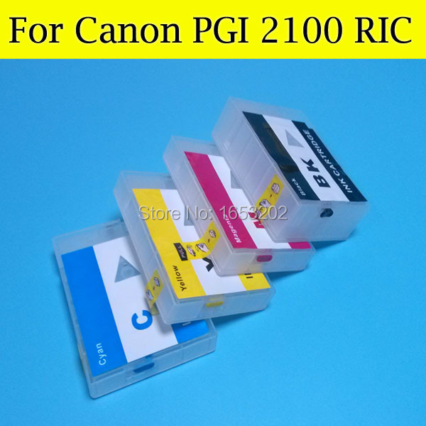 цены  Refillable Ink Cartridge for Canon PGI2100 PGI 2100 PGI-2100XL Ink Catridge for Canon MAXIFY MB5310 IB4010 Printer with arc chip