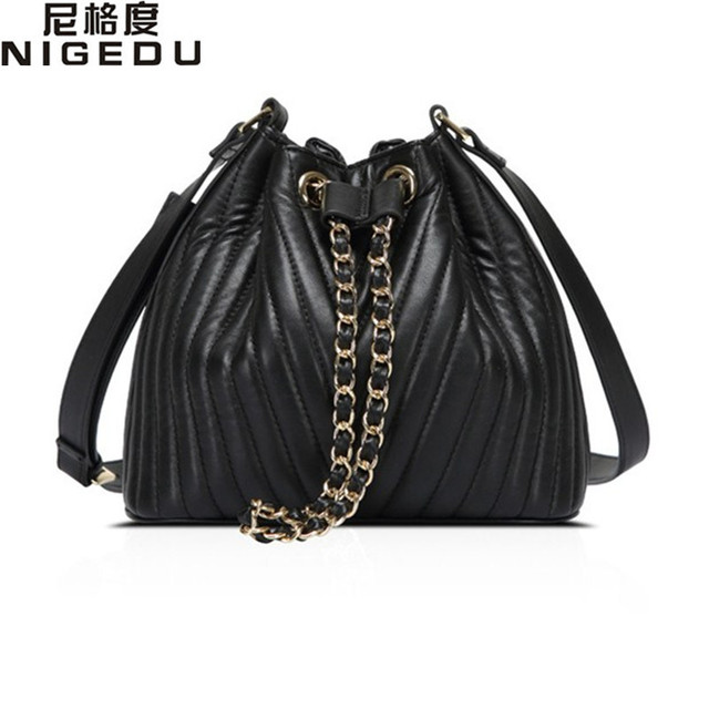 Fashion Thread bucket bag High quality PU leather women shoulder bag Crossbody Bags for Women's handbag bolsas free shipping