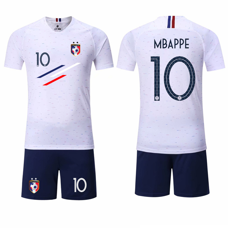 purchase cheap b941a 1858b Boy Spring Soccer Short Sleeve France 2 Stars Training Jerseys MBAPPE Kids  Football Team Design Uniform Shirts&Shorts Suits