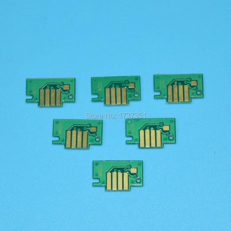 Chip de Cartucho ipf710 ipf605 ipf720 impressora Moq : 1 Conjunto ( 6 Pcs)