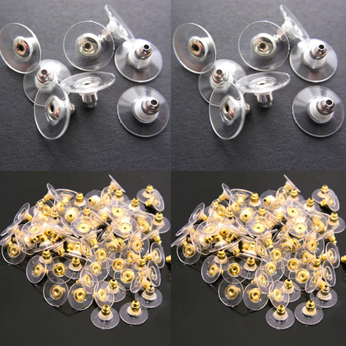 10 pcs Platic Stud Earring Stoppers Ear Post Nuts DIY Making Jewelry Findings And Components Jewelry Accessories Ear Nuts Back