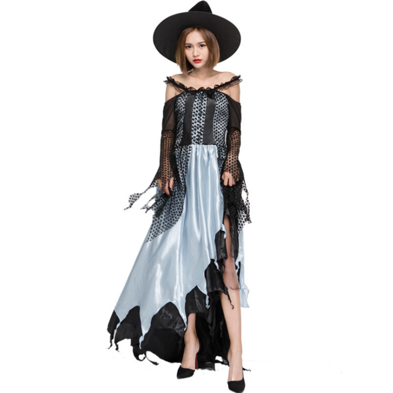 high quality Masque Female Vampire Cosplay Dresses Uniforms Gothic Witch Costumes Sexy Zombie queen Halloween Costumes for women