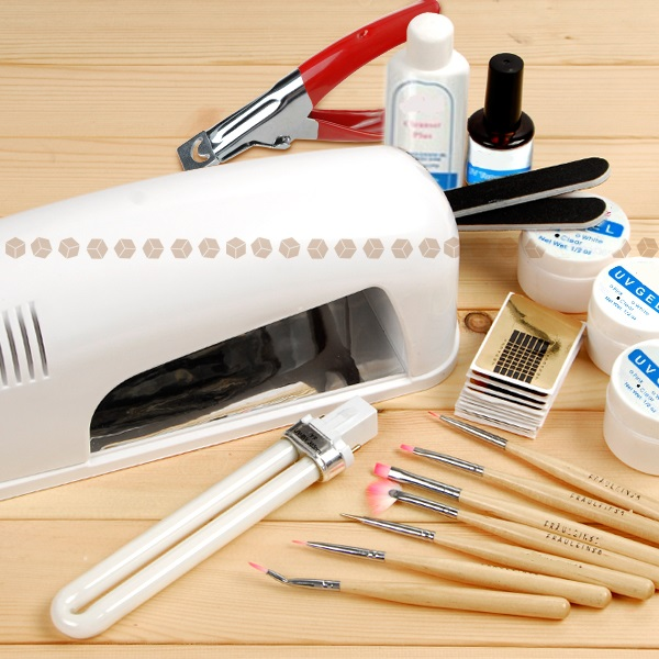 Professional Full Set UV Gel Kit Nail Art Set + 9W Curing