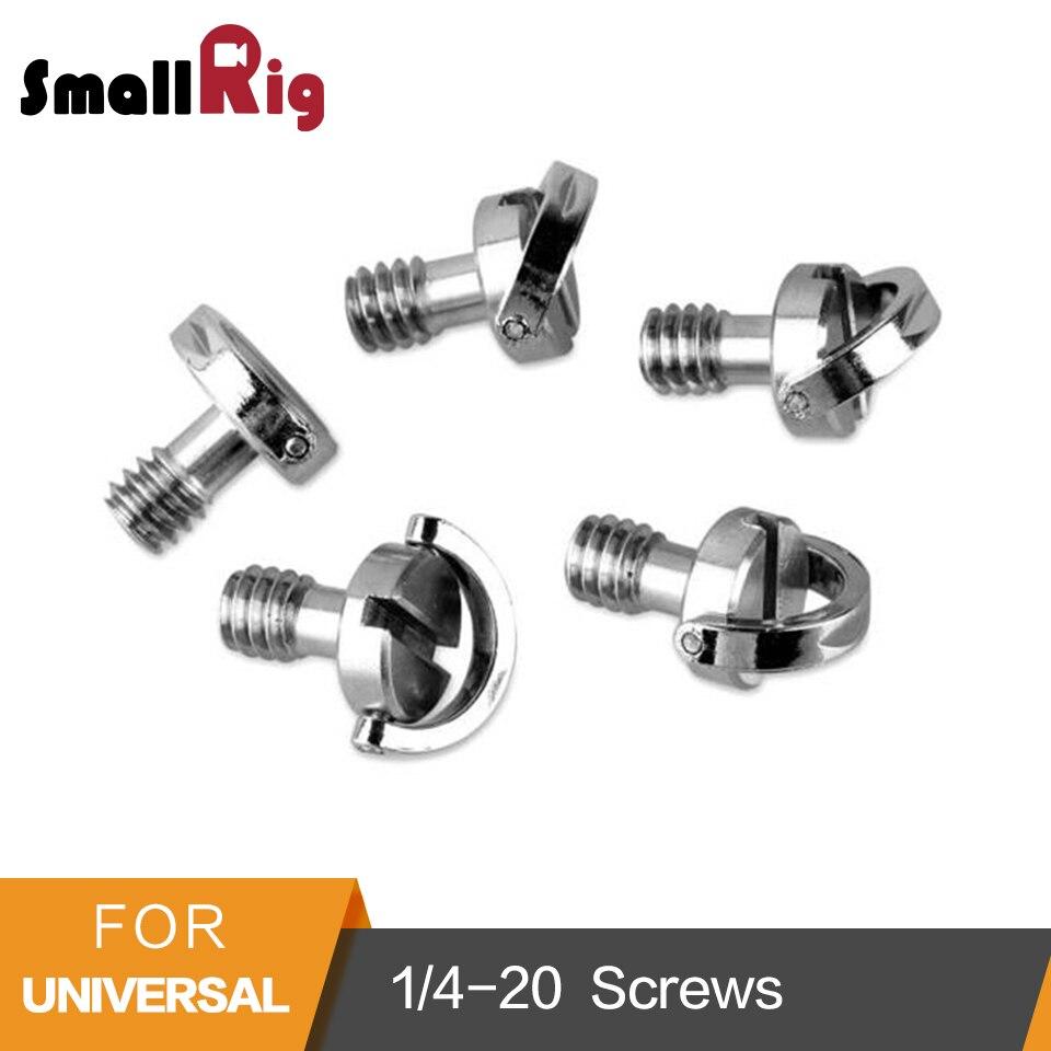 SmallRig D Shaft D-Ring Thumb Screw Adapter 1/4-20 Thead for Camera Tripod QR Quick Release Plate 5 PCS Set -1880