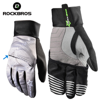 ROCKBROS Snow Winter Skiing Gloves Touch Screen Windproof Cover Hand Snowboarding Men Women Waterproof Ski Gloves