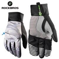 ROCKBROS Snow Winter Skiing Gloves Touch Screen Windproof Cover Hand Snowboarding Men Women Waterproof Ski Gloves