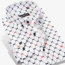 หรูหรา Argyle ลายสก๊อตชายเสื้อลำลองเสื้อแฟชั่นแขนยาวคอผ้าฝ้าย 100% คุณภาพสูงสังคมผู้ชายชุดเสื้อ