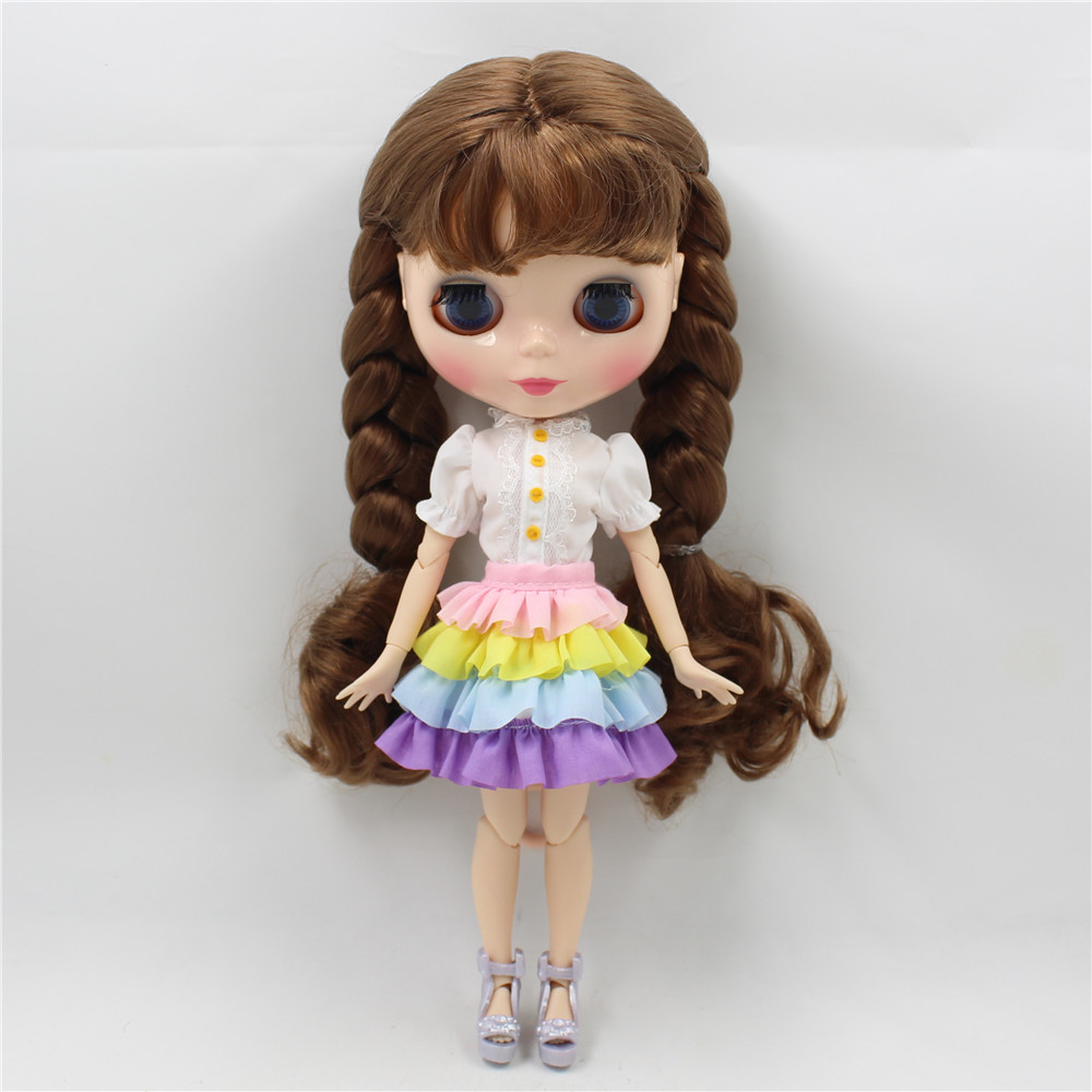 Neo Blythe Doll Rainbow Dress 3