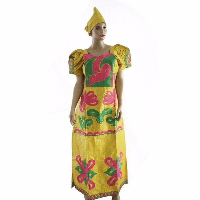 Африканская женщина одежда Африка Riche базен платье для женщин Африканских традиционных вышитые одежды 100% Базен хлопок