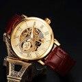 Luxury Men Mechanical Watches Hand-winding Watch Leather Band Fashionable reloj hombre Men Bracelet Wristwatches Top Brand SWQ29