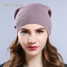 VEITHDIA fashion Women'S Hats Knitted Wool Autumn Winter Casual High Quality Brand New 2018 Hot Sale Hat Female Skullies Beanies