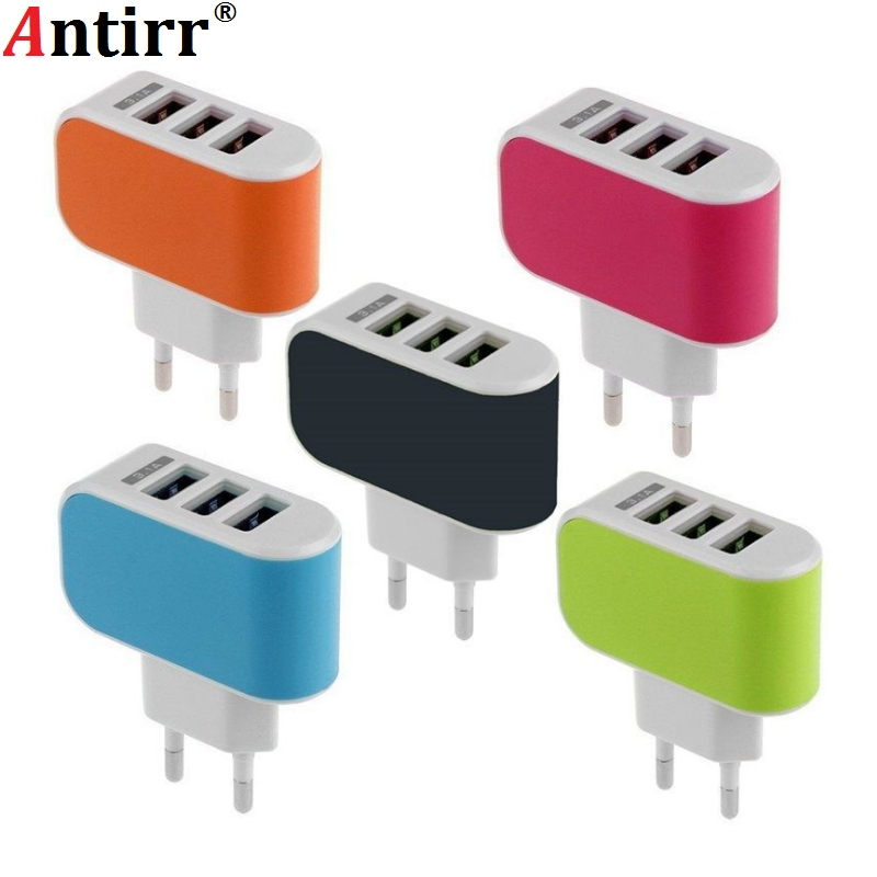 New arrival 3USB ports 3.1A usb AC EU Plug wall charger home plug for samsung s3 s4 note 2 3 for blackberry for iphone 4 5 6 image