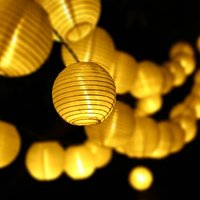 Updated 30LED 20ft Solar led light Outdoor Lantern Ball String Lights Fairy Globe Christmas for Garden Holiday Party Decoration