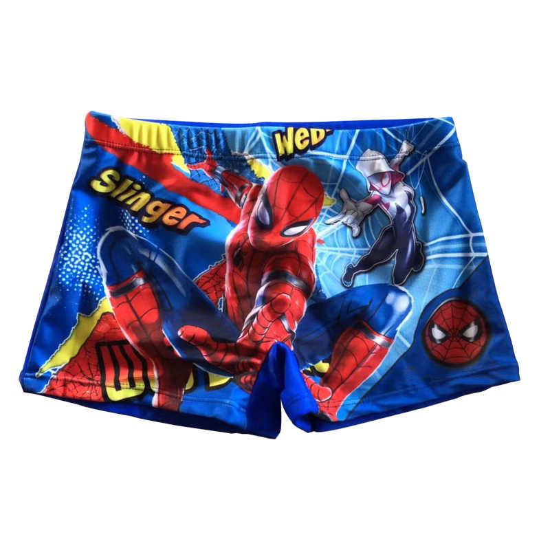 «Человек-паук» Шорты купальные для мальчиков Плавание костюм шорты 3D мультфильм печати Плавание ming Мужские Шорты для купания милые дети Плавание одежда низ для мальчиков, купальные плавки