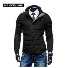 Manvelous Schwarze Jacke Männer Plus Beiläufige Winter Mann Jacke herbst 2016 Stehkragen Langarm Herbst Jacken Männer Outwear XXL