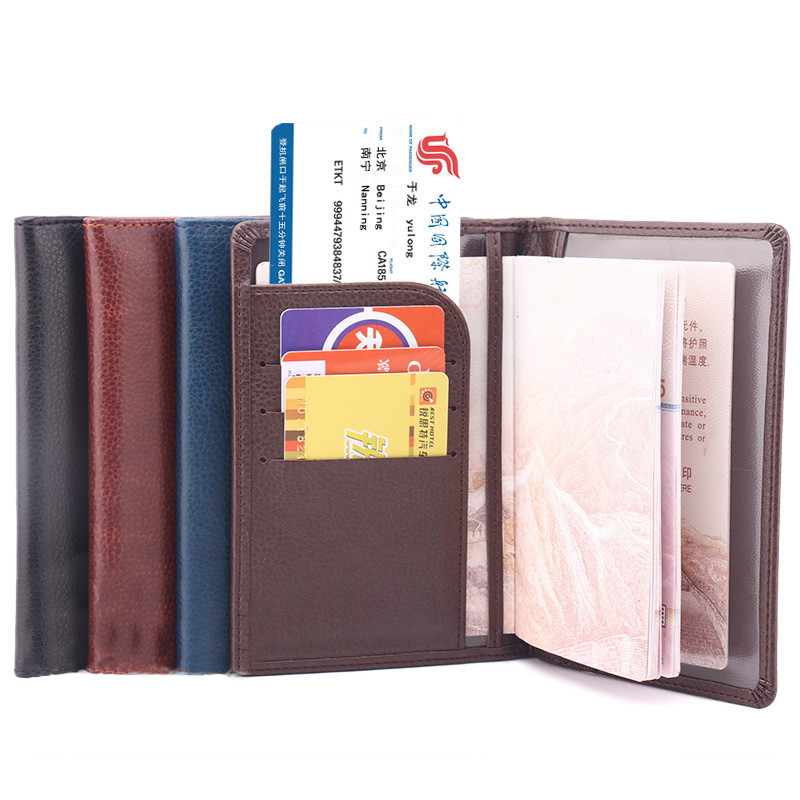 2016 hot pu  leather passport holder men and women travel business cardholder 4 colors passport cover credit card case protective pu leather passport card holder case yellow