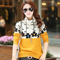 Women Sweaters and Pullovers Winter Autumn Knitted Striped turtleneck cashmere Vintage Knitwear Warm Ladies Sweater WK123