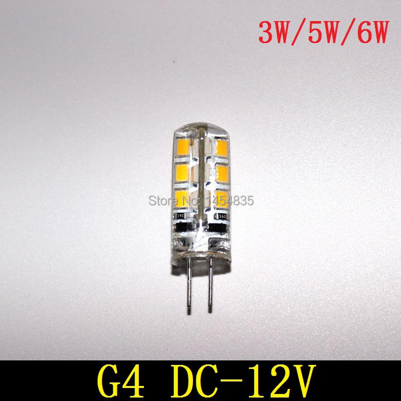 High Quality G4 Led 12V 5W Led G4 Light DC SMD 3528 LED Crystal Lamps Silicone Candle Replace 20W Halogen Lamp