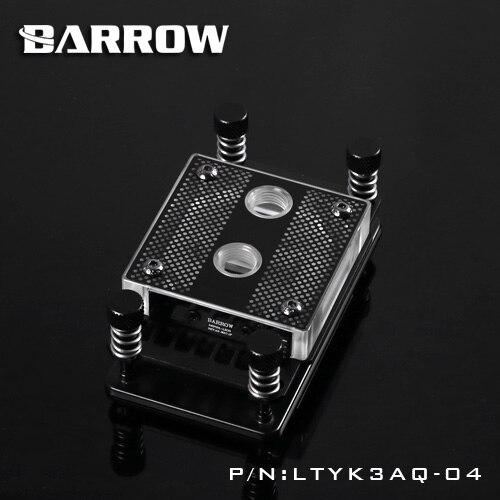 Barrow RGB transparent acrylic CPU waterblock 0.4MM microcutting micro waterway for AMD Ryzen AMD 1/2/3/4 LTYK3AQ-04